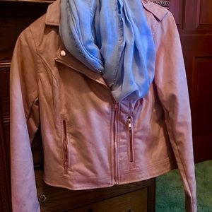 Suede dusty rose jacket